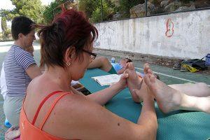 Tlaková reflexní masáž nohou
